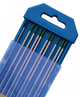 WP Green tungsten electrodes manufacturer