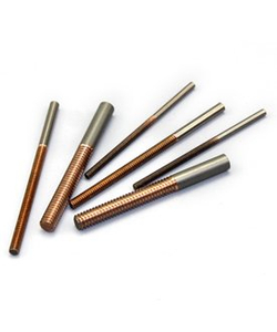Tungsten copper alloy electrodes for welding